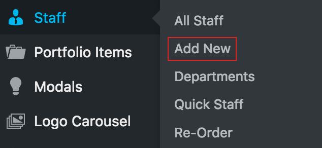 Staff - Add New