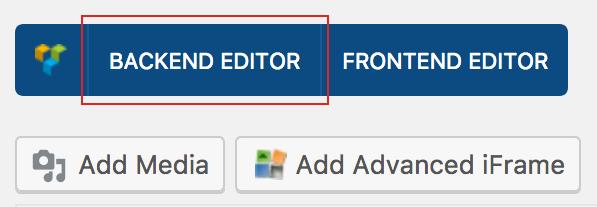 Backend editor