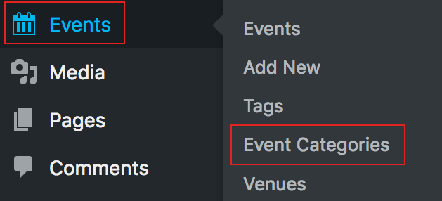 Add event category
