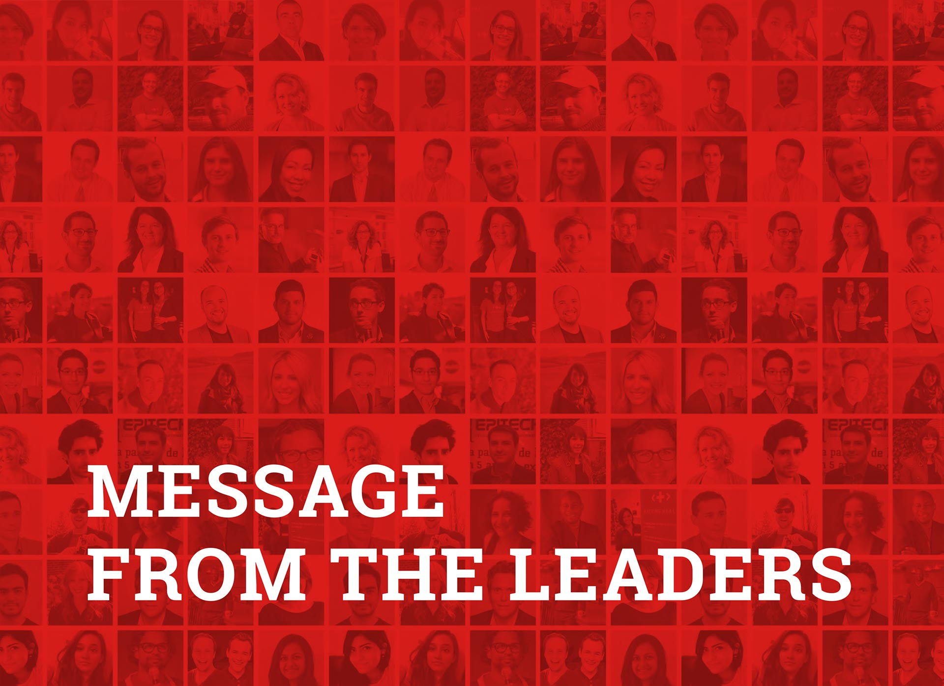 Message from our leaders