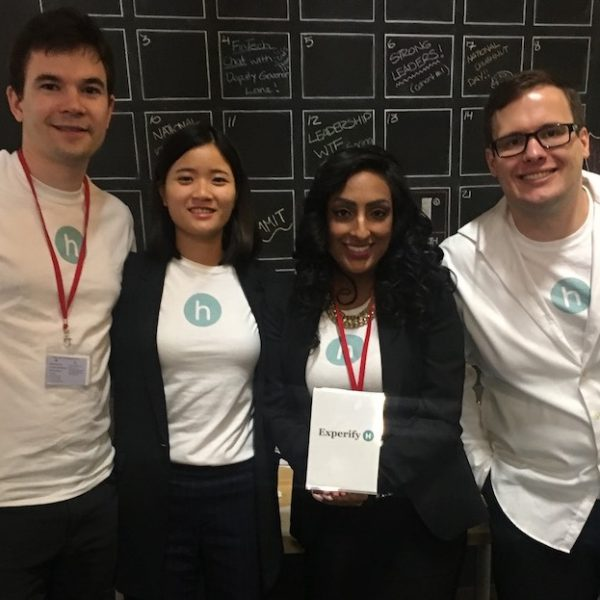 ExperifyHealth team from HHOttawa hackathon